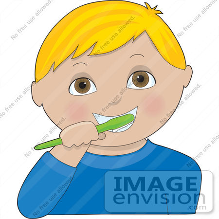 3d art blonde brushing teeth - 4 2