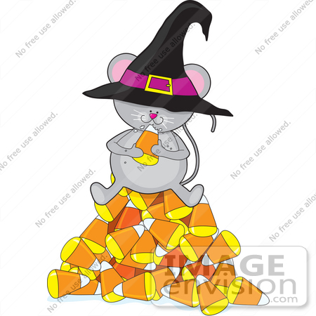 Cat Eating Candy Corn