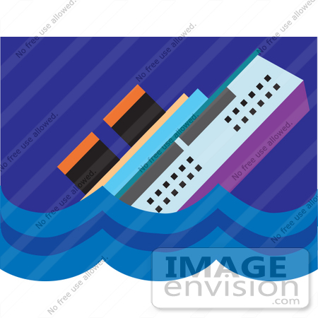 Royalty-free nautical clipart picture of a cruise ship resembling ...