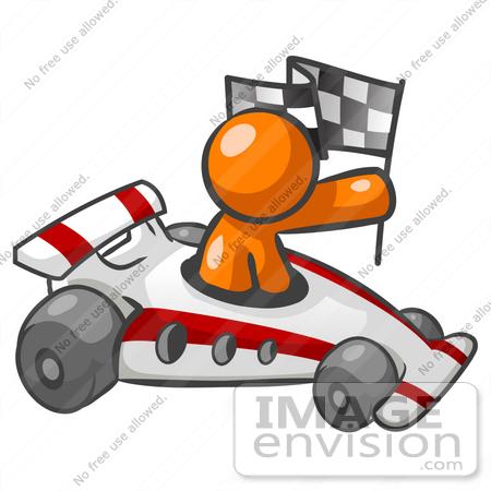 Orange Racing Flags Clipart