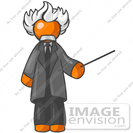 clip art graphic of an orange guy albert einstein character with rh imageenvision com Albert Einstein Cartoon Albert Einstein Face Clip Art