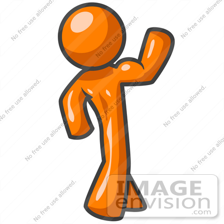 clip art graphic of an orange guy character flexing his strong arms rh imageenvision com orange man clipart collection orange man clipart free download