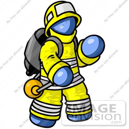 clip art graphic of a blue guy character fireman waving 34558 by rh imageenvision com fireman's clip art printable fireman clipart