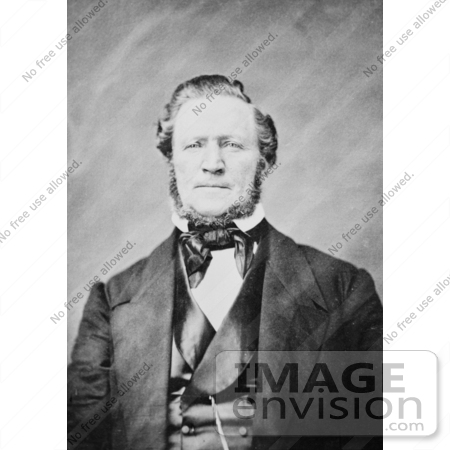 #34619 Stock Photo of The Mormon Pioneer And Polygamist, Brigham Young, Referred To As American Moses, Modern Moses, And Mormon Moses by JVPD