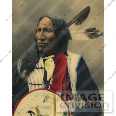 35639 Stock Photo Of A Native American Named Strikes With Nose Oglala Sioux Chief