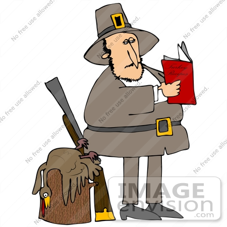 clip art graphic of a pilgrim man standing by a dead turkey on a rh imageenvision com pilgrim and indian clipart black and white Thanksgiving Clip Art