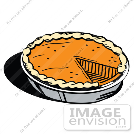 Clip Art Graphic of a Slice Missing From A Fresh Pumpkin Pie | #35712 ...