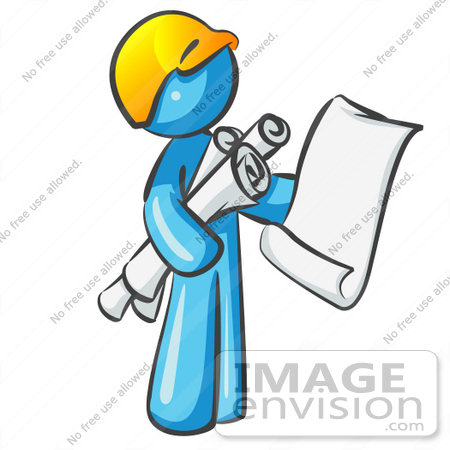 Clip art graphic of a sky blue guy character holding blueprints 35775 clip art graphic of a sky blue guy character holding blueprints by jester arts malvernweather Gallery