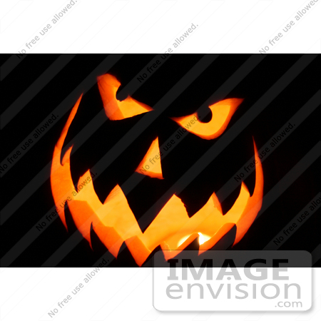 #36 Picture of a Carved Halloween Pumpkin by Kenny Adams
