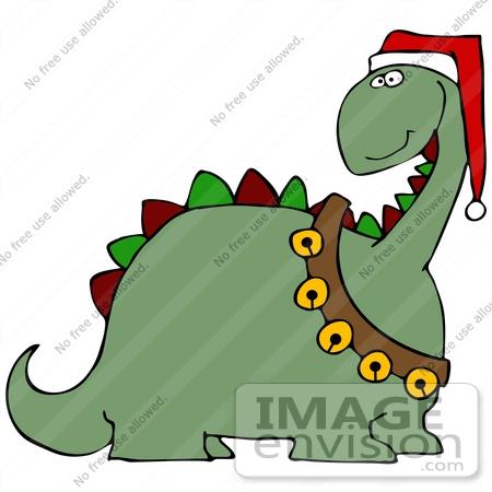 clip art graphic of a festive christmas dinosaur with jingle bells rh imageenvision com Baby Toys Clip Art Wedding Cake Clip Art