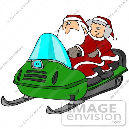mrs santa claus clip art. #36930 Clip Art Graphic of Santa and Mrs Claus Having Fun on a Green