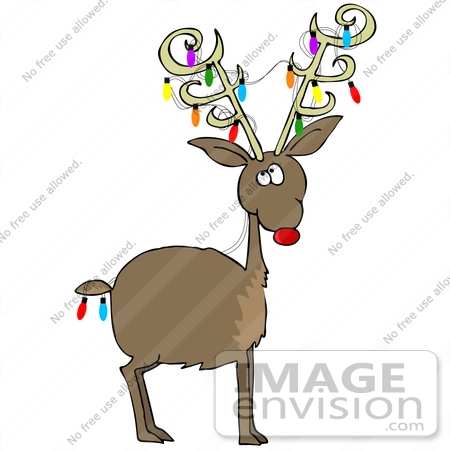 Rudolph The Red Nosed Reindeer Clipart The red nosed reindeer