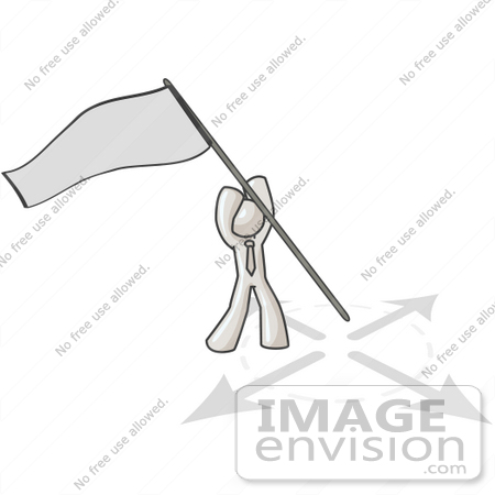 #37514 Clip Art Graphic of a White Guy Character Claiming Territory by Jester Arts