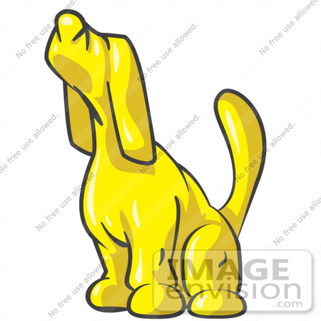 Yellow Dog Clipart clipart of a yellow dog