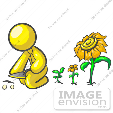 free clip art sunflower. #37763 Clip Art Graphic of a