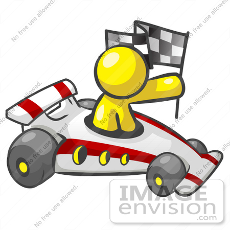 Auto Racing Clip  Graphic on Clip Art Graphic Of A Yellow Guy Character Racing A Car By Jester Arts