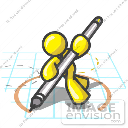 clip art graphic of a yellow guy character drawing a circle on graph rh imageenvision com
