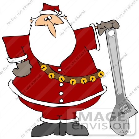 clip art graphic of santa claus with a wrench 38121 by Nicholas the Word Clip Art Nicholas Name