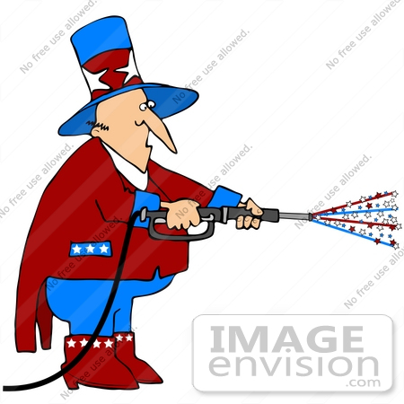 clip art graphic of uncle sam using a pressure washer 38908 by rh imageenvision com  pressure washing clipart free to use