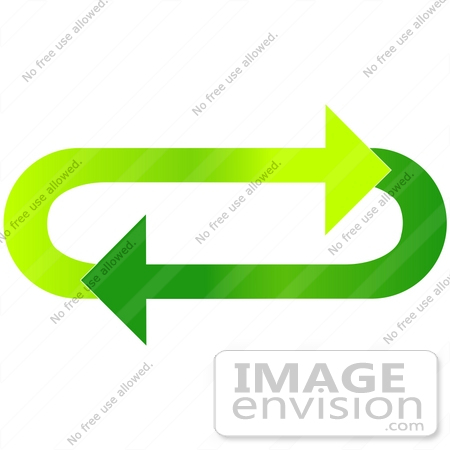 Clip Art Graphic of Light And Dark Green Arrows Circling In An ...