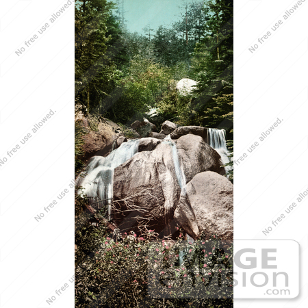 #40719 Stock Photo of Waterfalls of Naiads Bath, Colorado Springs, Colorado by JVPD