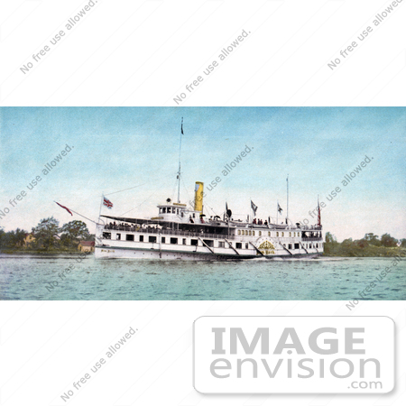 #40786 Stock Photo of The Steamship New York Transporting Passengers, Thousand Islands, NY by JVPD