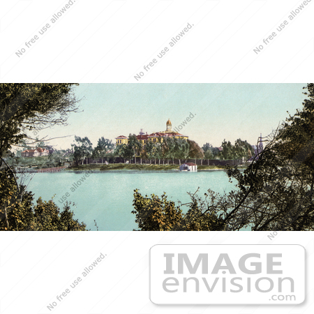 #40823 Stock Photo of a Building On The Banks Of Lake Merritt, Oakland, California by JVPD