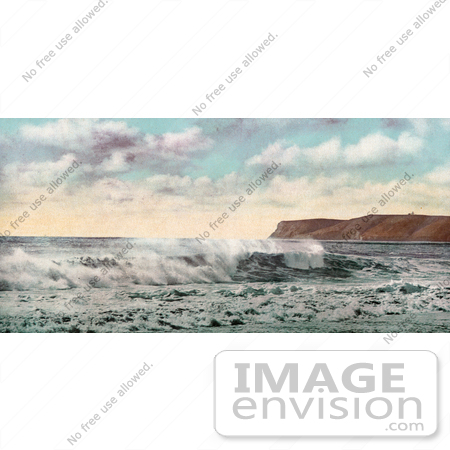 #40826 Stock Photo of The Surf In The Bay Near The Peninsula At Point Loma, San Diego, California by JVPD