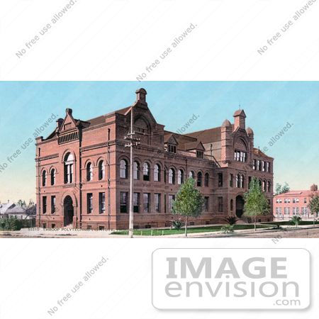 #40831 Stock Photo of The Throop Polytechnic Institute Building, Now Known As Caltech And Also Previosly Called Throop University, Throop College Of Technology, Pasadena, California by JVPD