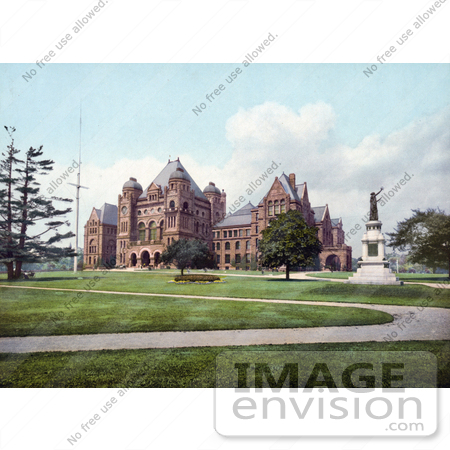 #40836 Stock Photo of The Lawns And Paths At The Parliament Buildings In Toronto, Ontario, Canada by JVPD
