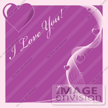 purple love heart background. Swirl Of Purple Hearts On