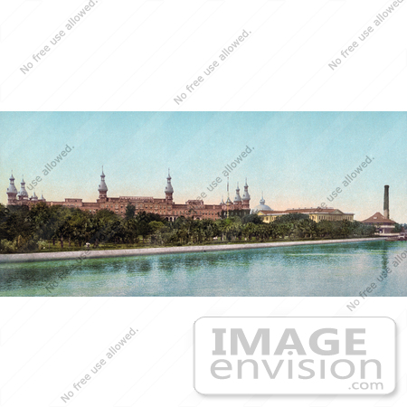 #40866 Stock Photo Of The Tampa Bay Hotel, Now The Henry B. Plant Museum, On The Hillsborough River In Tampa Bay, Florida by JVPD
