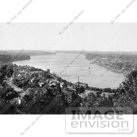 #40867 Stock Photo of a View Of The Niagara River As Seen From Queenstown by JVPD