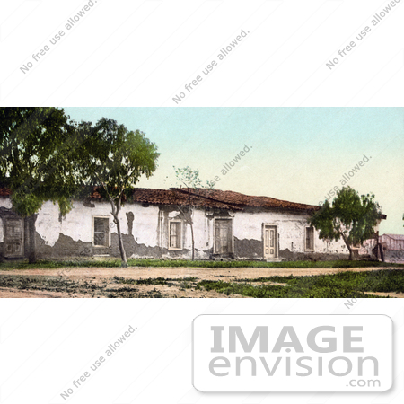 #40876 Stock Photo Of The Old Adobe House Falling Apart, Ramona's Marriage Place, San Diego, California by JVPD