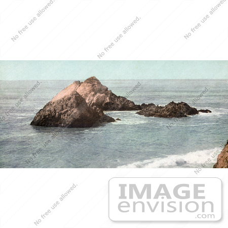 #40909 Stock Photo of a View Of Seal Rocks As Seen From Cliff House, San Francisco, California by JVPD
