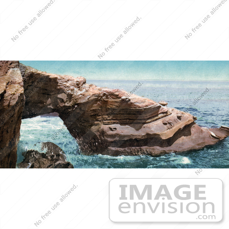 #40915 Stock Photo of The Alligator Head Rock Formation At La Jolla, California by JVPD