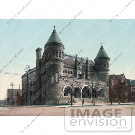 #40934 Stock Photo Of The Detroit Museum Of Art Building, Now Called The Detroit Institute Of Arts, In Detroit, Michigan by JVPD