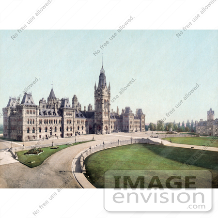 #40946 Stock Photo Of The Lawns And Parliament Buildings In Ottawa, Canada by JVPD