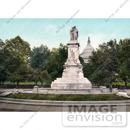 #40950 Stock Photo Of The Peace, Naval, Or Civil War Sailors Monument In Peace Circle On The Grounds Of The United States Capitol In Washington DC by JVPD