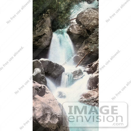#41075 Stock Photo Of A Rocky Waterfall In Queen Of The Canyon, Cascade Canyon, Colorado by JVPD