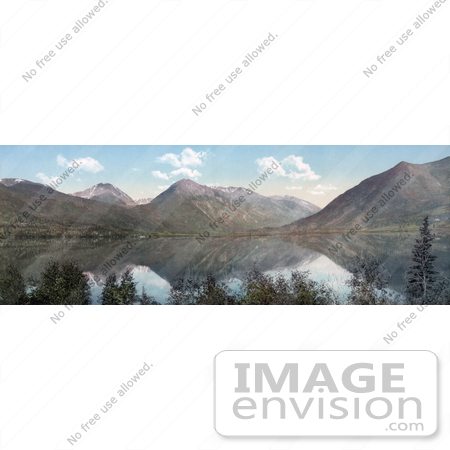 #41077 Stock Photo Of A Panoramic View Of Mountains Reflecting In Upper Twin Lake In Colorado by JVPD