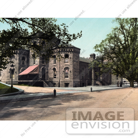 #41078 Stock Photo Of Grant Hall Of The United States Military Academy In West Point, New York by JVPD