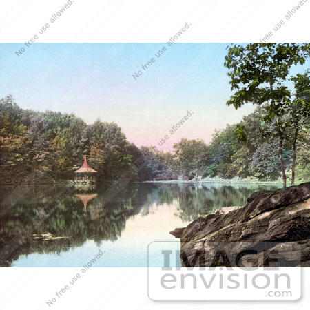 #41084 Stock Photo Of A Gazebo At The Lake Lenape, Delaware Water Gap In New Jersey by JVPD