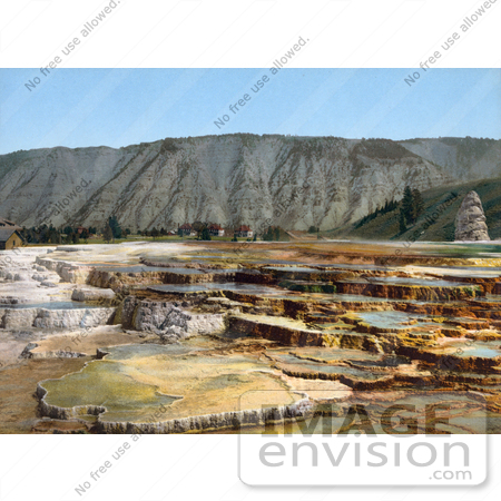 #41093 Stock Photo Of Hymen Terrace, Mammoth Hot Springs At Yellowstone National Park, Wyoming by JVPD
