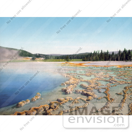 #41097 Stock Photo Of Blue Waters Of The Sapphire Pool In Biscuit Basin, Yellowstone National Park, Wyoming by JVPD