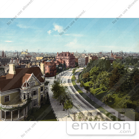 #41100 Stock Photo Of Homes On The Circle In Brooklyn, New York by JVPD