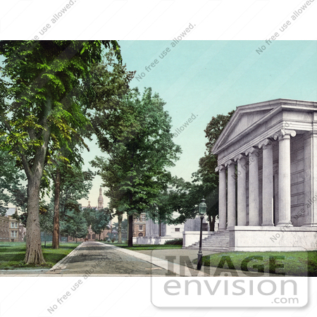 #41108 Stock Photo Of A Road In Front Of The Whig And Clio Halls At Princeton University, New Jersey by JVPD