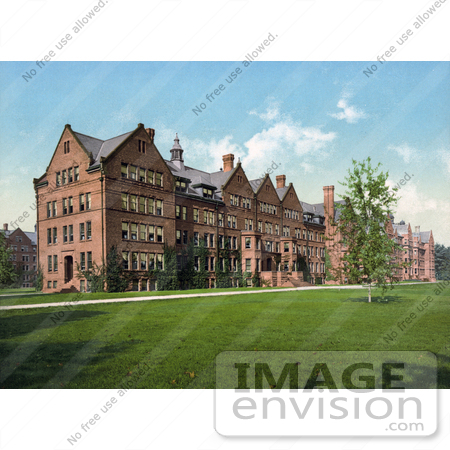 #41110 Stock Photo Of The Dormitories At Vassar College When It Was A Women's School, Poughkeepsie, New York by JVPD