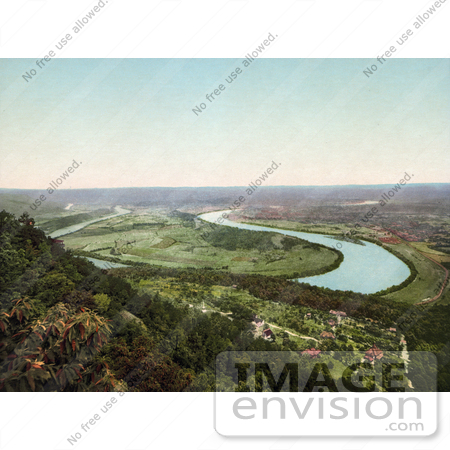 #41113 Stock Photo Of A View On Moccasin Bend From Lookout Mountain In Chattanooga, Tennessee by JVPD