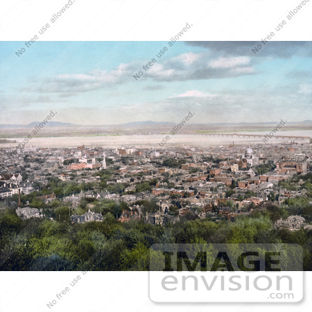 #41141 Stock Photo Of A Cityscape Of Montreal, As Seen From Mount Royal, Quebec, Canada by JVPD